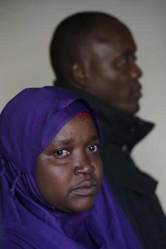 Somali refugees Habiba Mohamed and Abdalla Munye pose for a portrait to Tuesday, Jan. 31, 2017, in Decatur, Ga.. The couple's 20-year-old daughter is unable the leave Somalia due to the travel ban implemented by President Donald Trump.