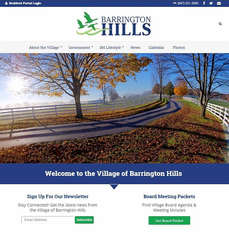 New Barrington Hills website offers a look at what makes village unique