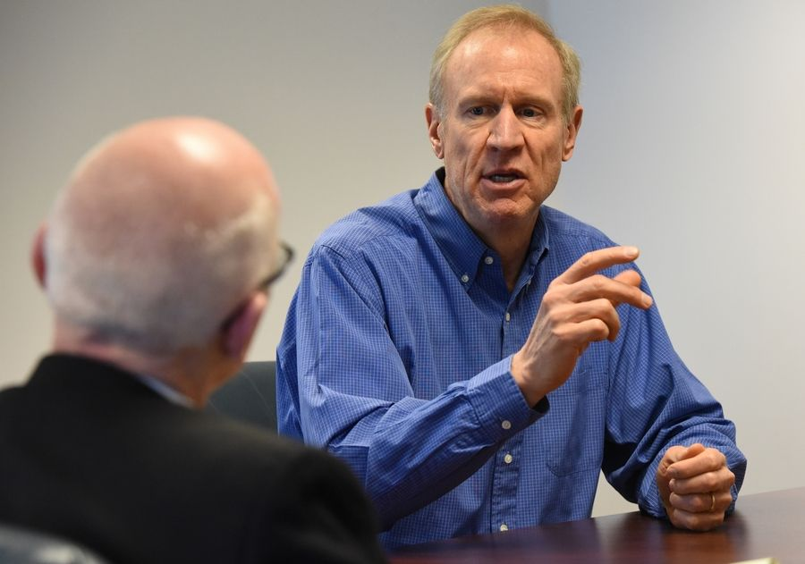 Illinois Gov. Bruce Rauner told members of the Daily Herald editorial board Thursday that a full repeal of the federal Affordable Care Act would put Illinois in a tough spot and that he'd use his connections with members of President Donald Trump's administration to fight such a move.