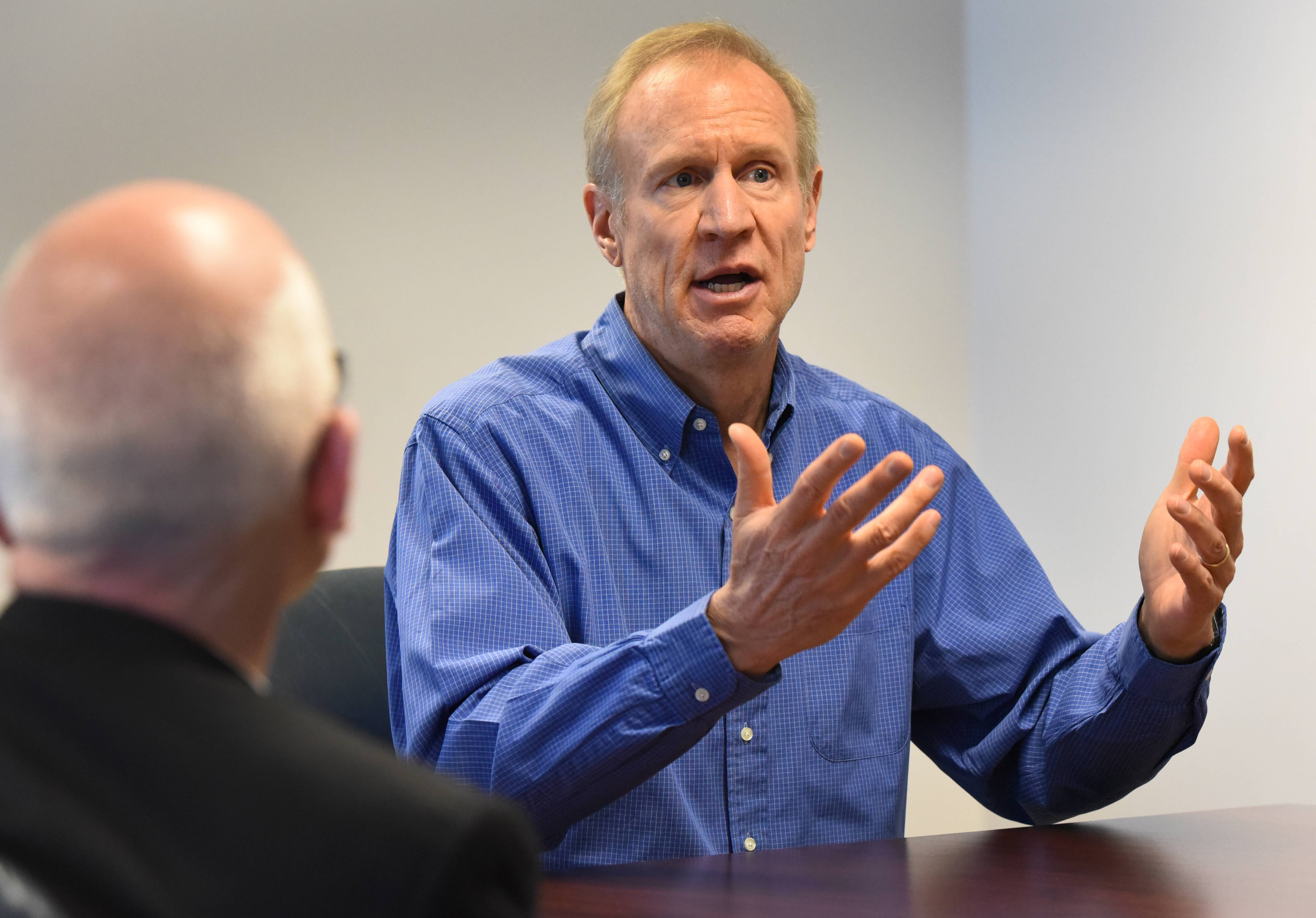 Illinois Gov. Bruce Rauner visited the Daily Herald editorial board Thursday.
