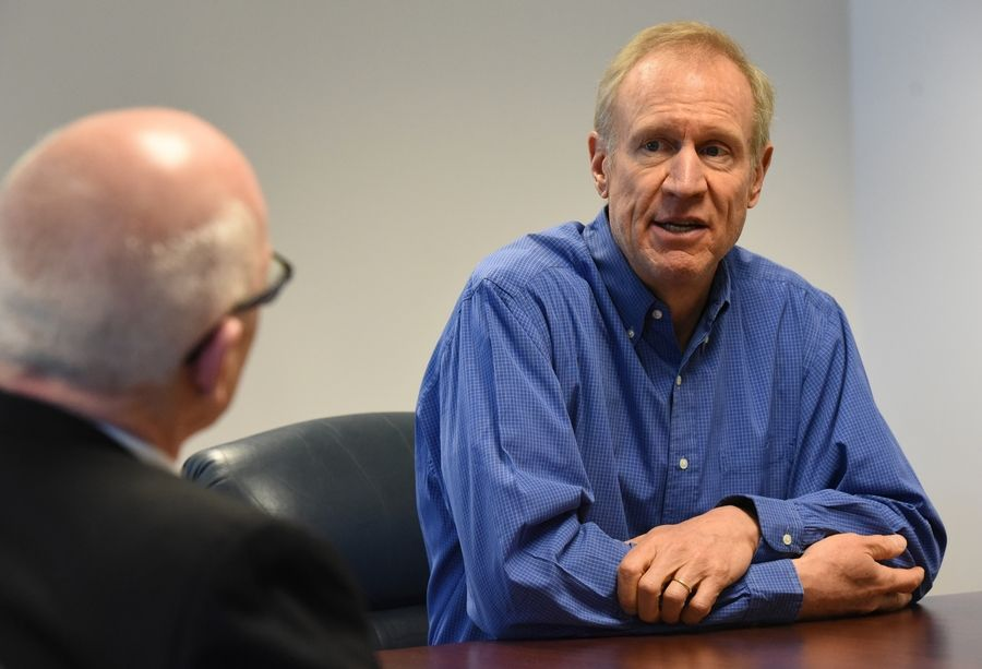 Illinois Gov. Bruce Rauner says he has close connections with a number of officials in President Donald Trump's new administration.