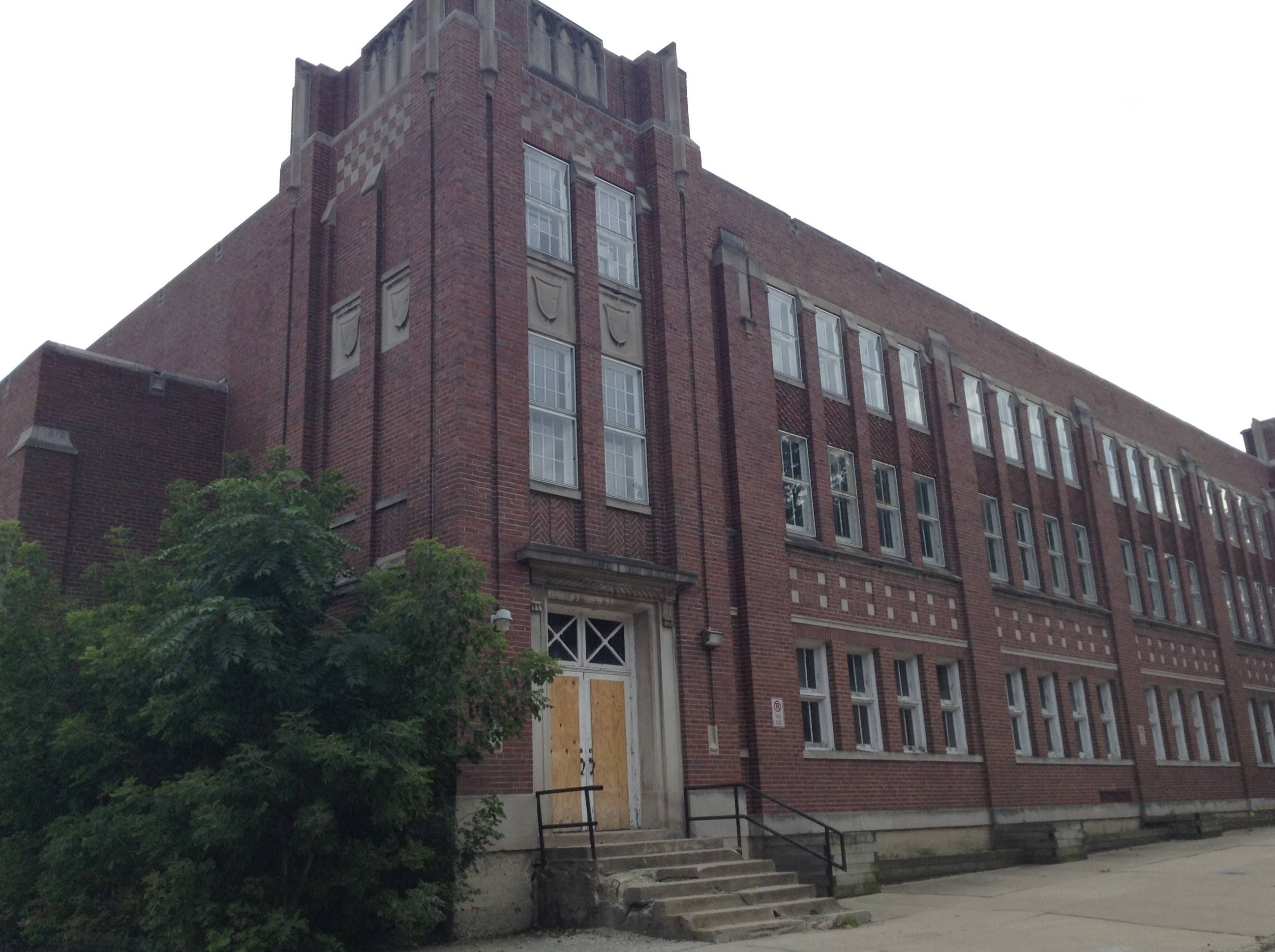 The original Libertyville High School building, shown here before its 2014 demolition, opened in 1917.