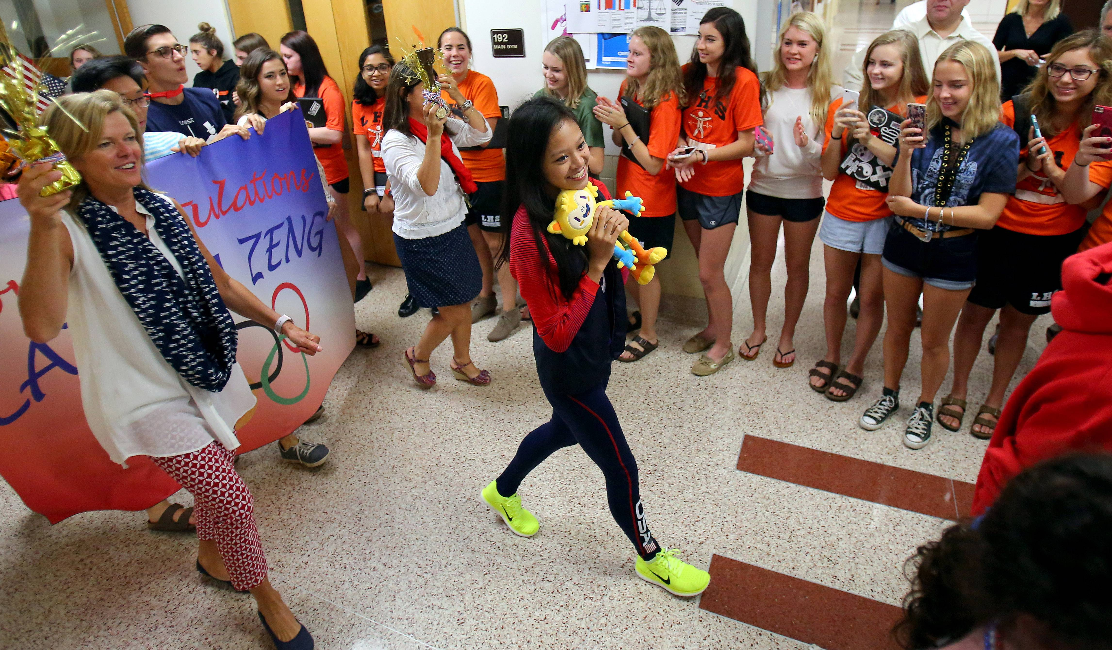 Libertyville High School student Laura Zeng got a hero's welcome after she competed in the 2016 Summer Olympics.