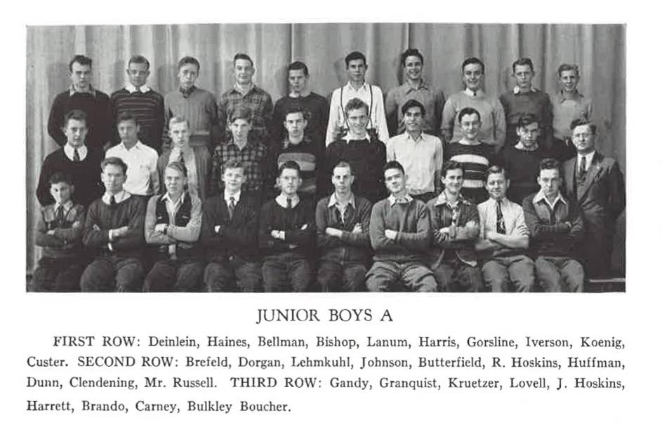 Actor Marlon Brando is in the Libertyville High School Junior Boys A photo.