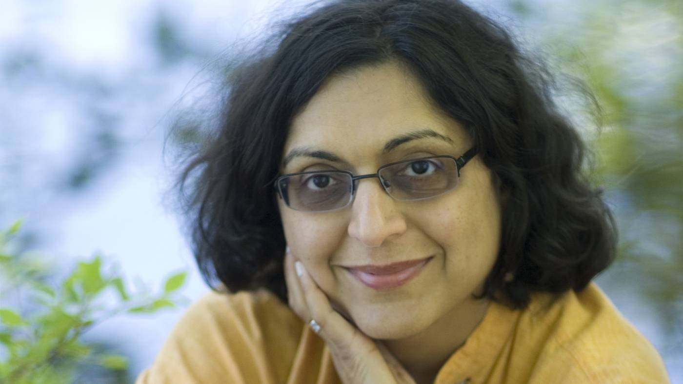 "Author Thrity Umrigar, ""The Story Hour"" visits Stevenson High School on Saturday, February 18, 2017."