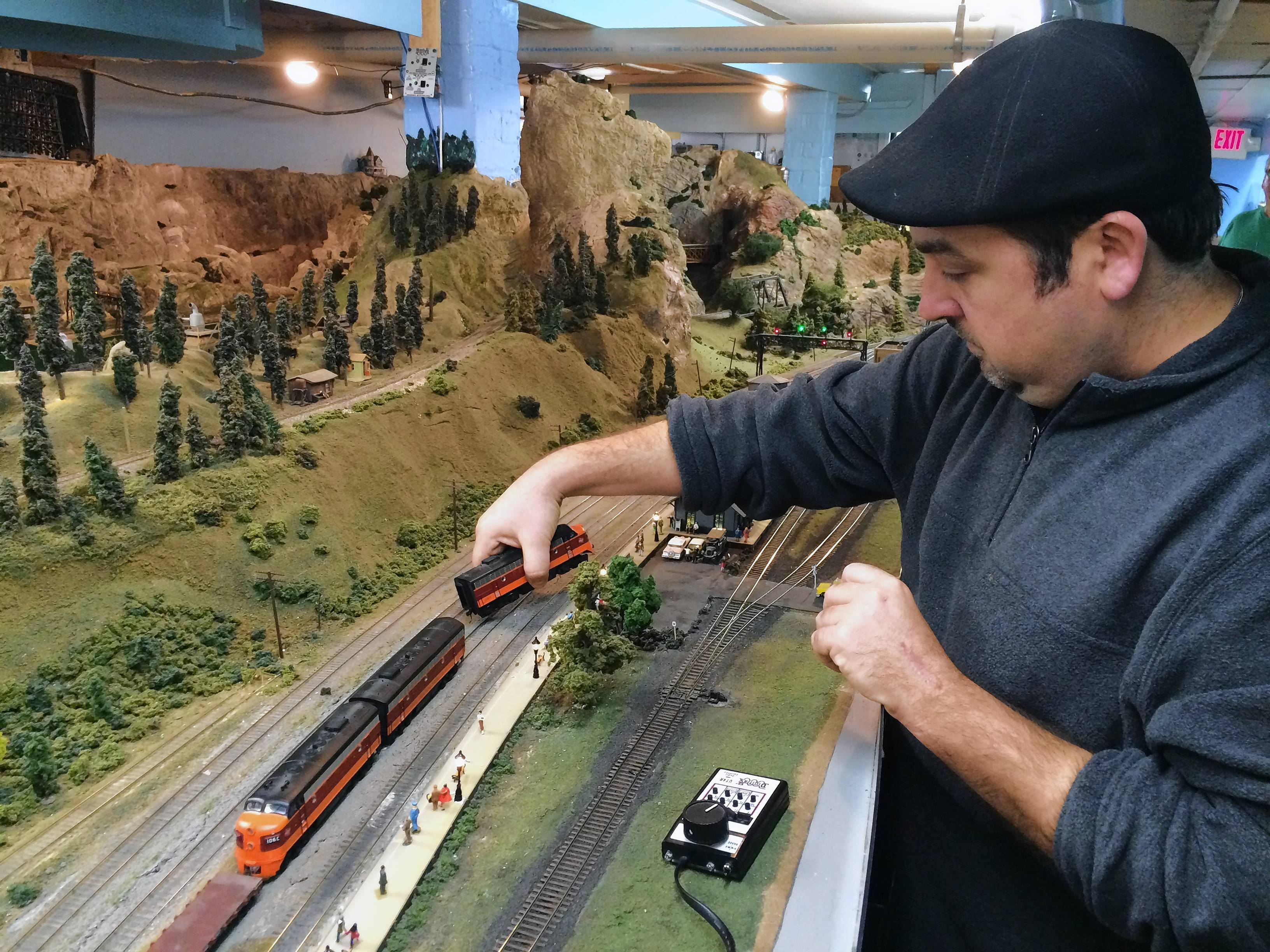 Trent Blasco of Buffalo Grove and other members of the Lake County Model Railroad Club may be forced to leave the Wauconda basement they've called home for 44 years, leaving their future in doubt.