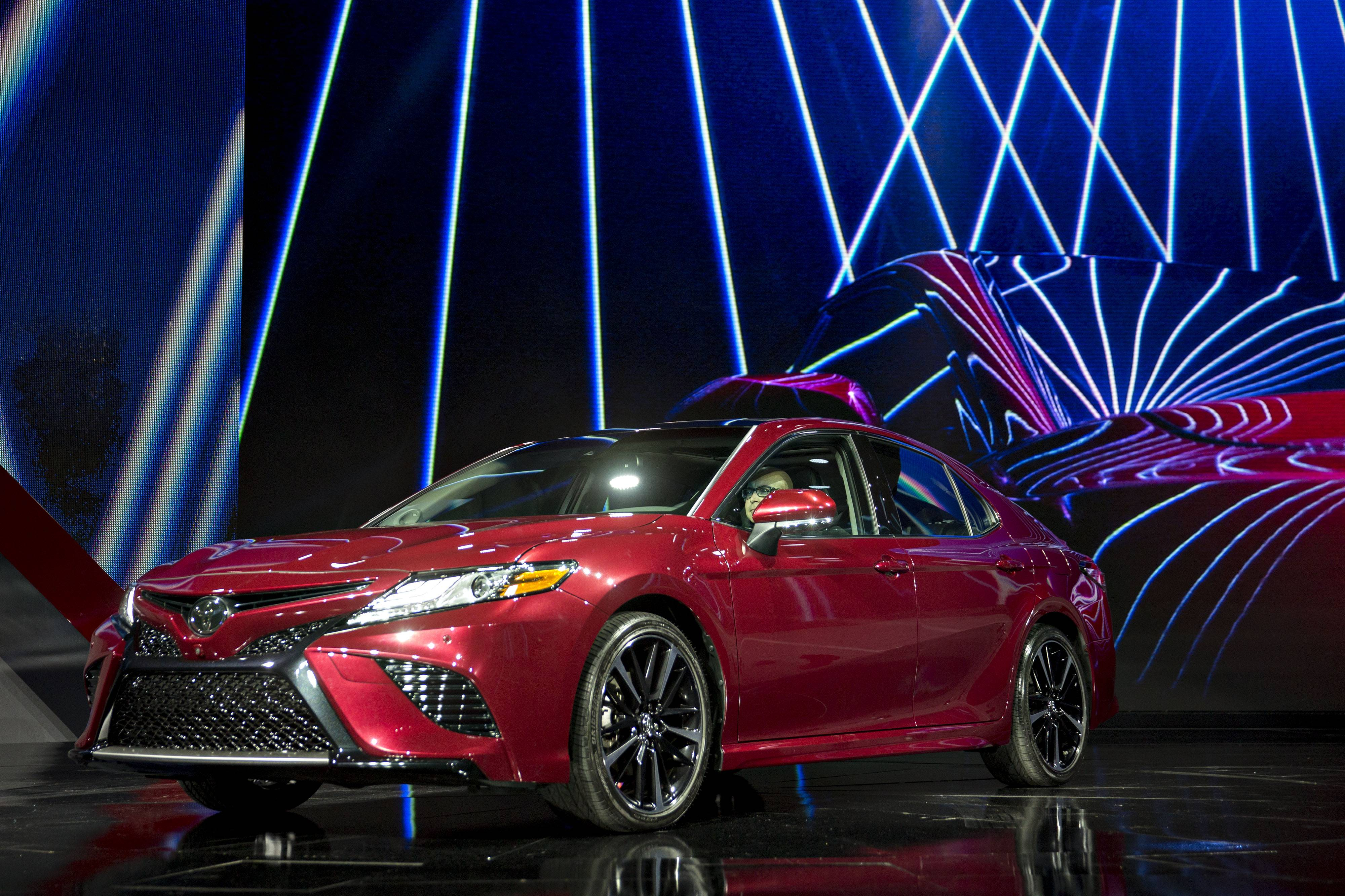 The 2018 Toyota Camry coming to the Chicago Auto Show is completely redesigned.