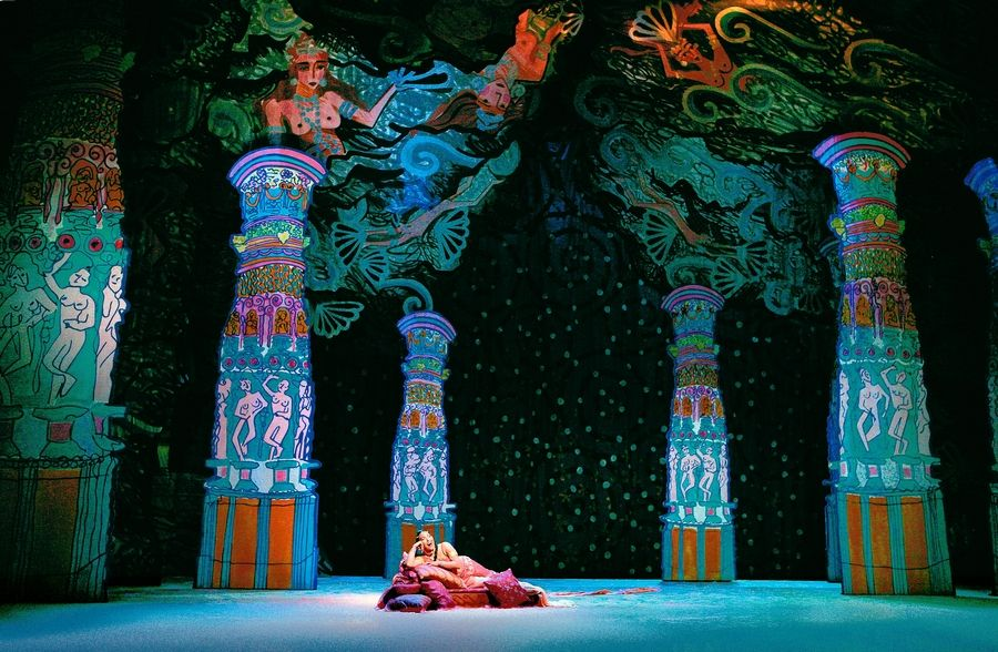 "Bizet's Sri Lankan-set romance ""The Pearl Fishers"" returns to the Lyric Opera of Chicago in a colorful production created by British fashion designer Zandra Rhodes as part of the 2017-18 season."