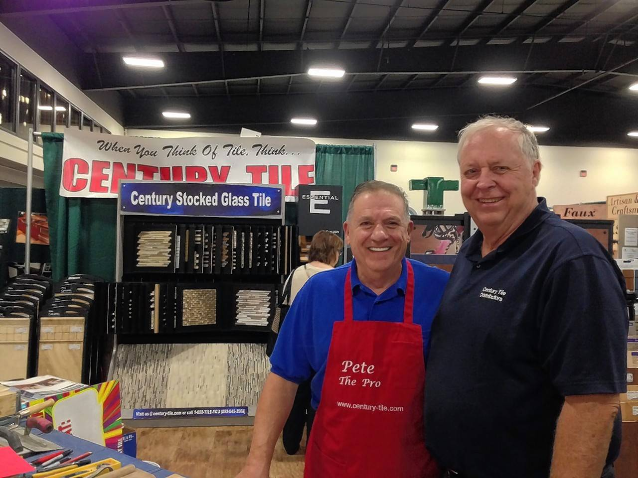 Pete the Pro and Mark Carlson of Century Tile will conduct hands-on, do-it-yourself demonstrations on tiling in their booth at the Old House New House Home Show in St. Charles.