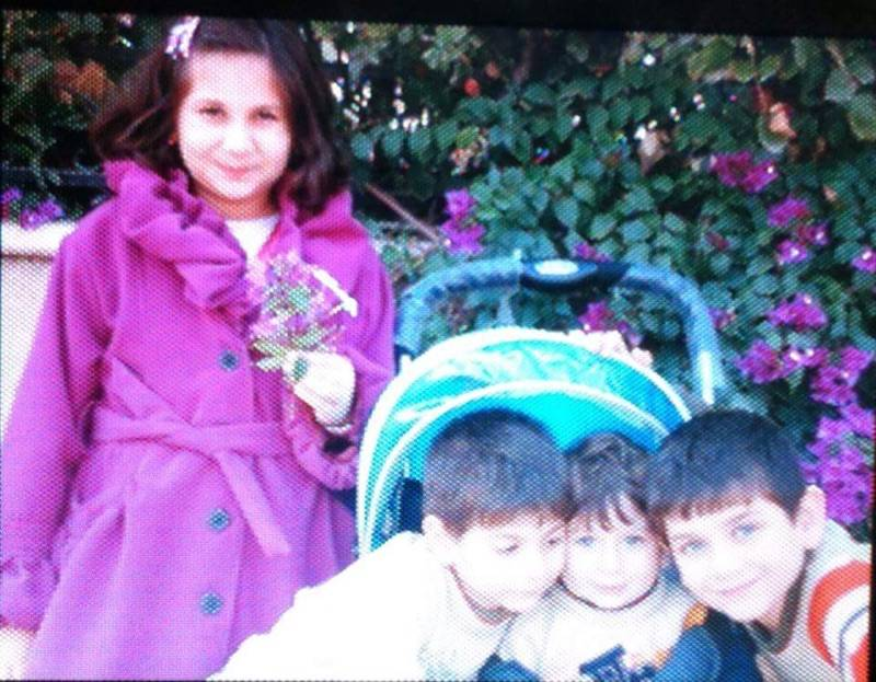 A family photo shows Marwan Saffaf's children. Maria, at left, has not been granted admission to the U.S. and is staying in the United Arab Emirates with her mother, who also is seeking to emigrate. Homan, Eylas and Fares live in Des Plaines with their father.