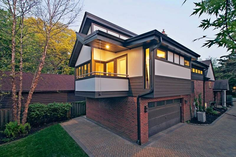 With nowhere to go but up this home 39 s addition gets high for Balcony addition