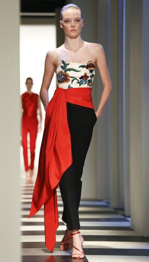 d2f5c91b4ff Fashion collection from Oscar de la Renta is modeled during Fashion Week