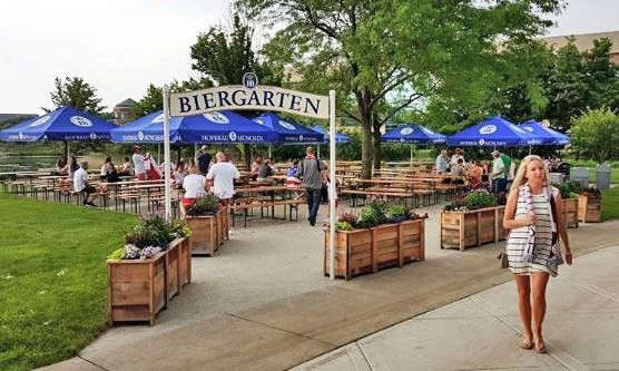 Hoffman Estates officials want the Hoffman Estates Beer Garden on the Village Green to strike a better financial deal to participate in the Northwest Fourth Fest this July.