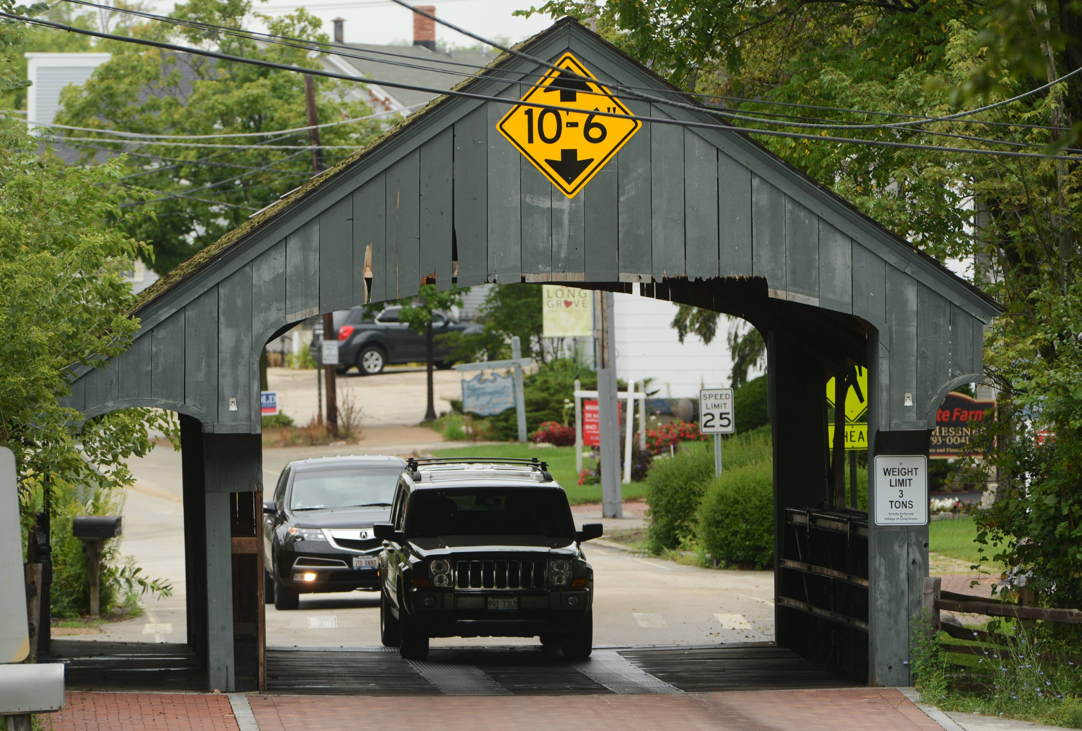 About 150 supporters of Long Grove's covered bridge attended a village board meeting Tuesday night. The session was moved from village hall to Long Grove Community Church's community house to accommodate the turnout. The bridge's future has been an issue because of its poor condition cited about three years ago.