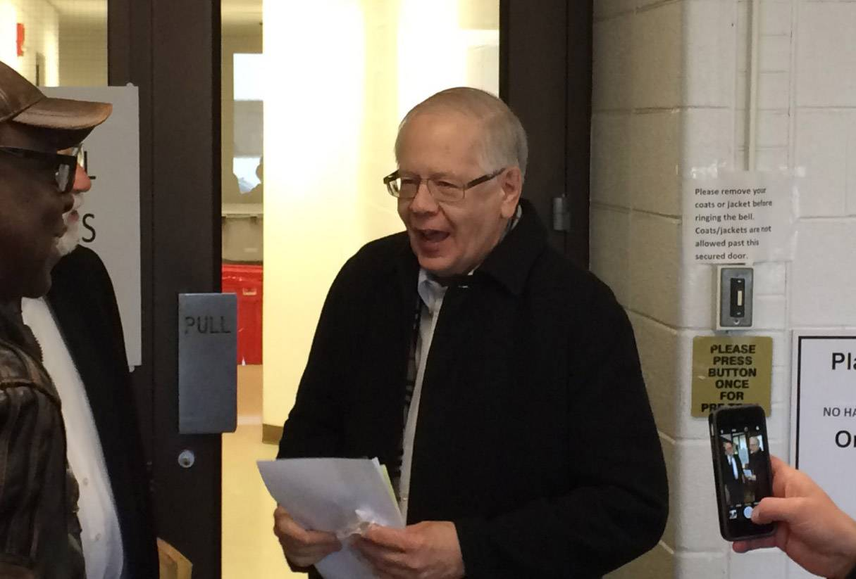 Former Lake County coroner Thomas Rudd is released from Lake County jail after posting bond early Thursday.