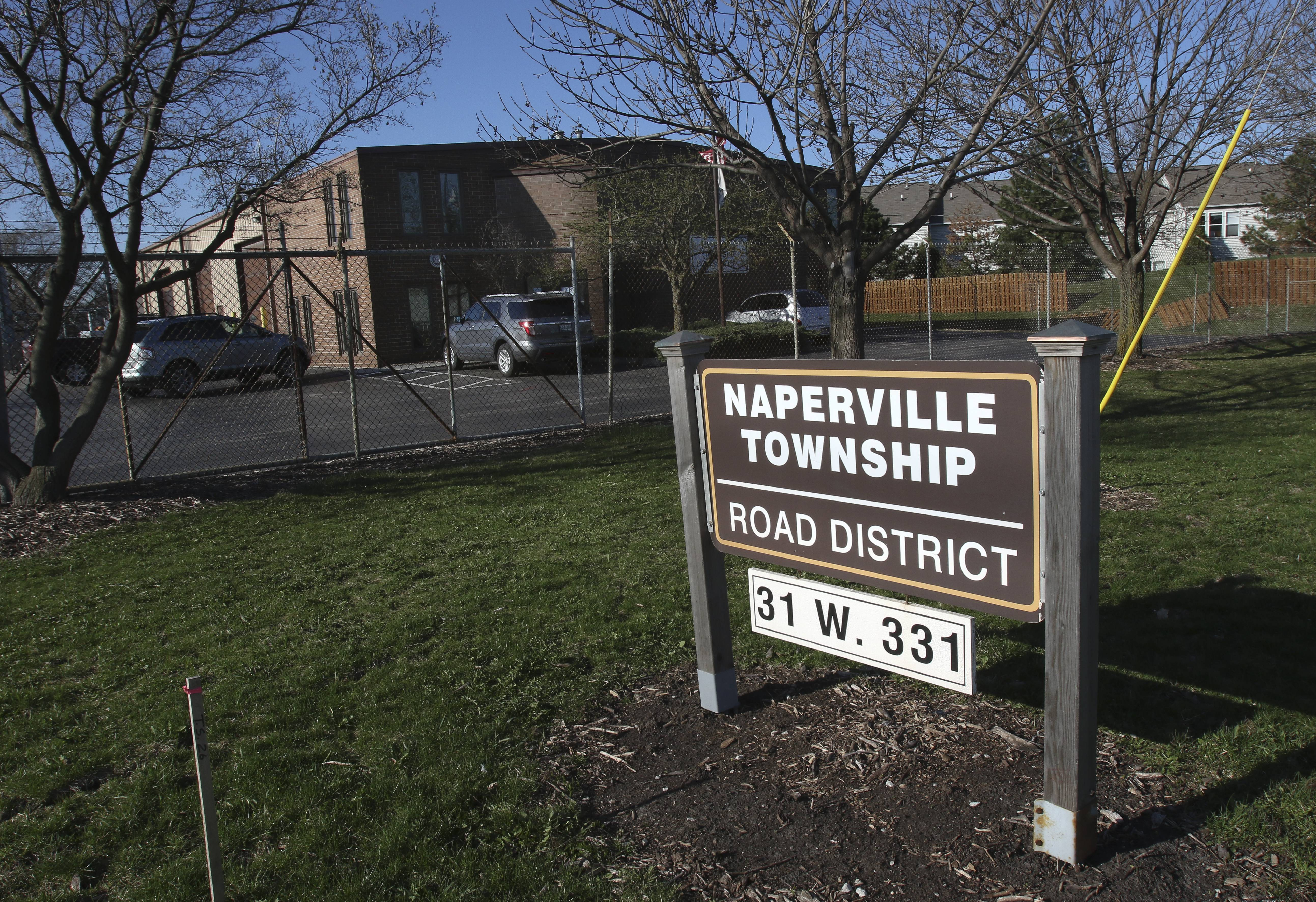 The Naperville Township road district's garage on Aurora Avenue likely would be sold to help offset a tax increase for district residents if voters choose April 4 to merge the district with its counterpart in Lisle Township.