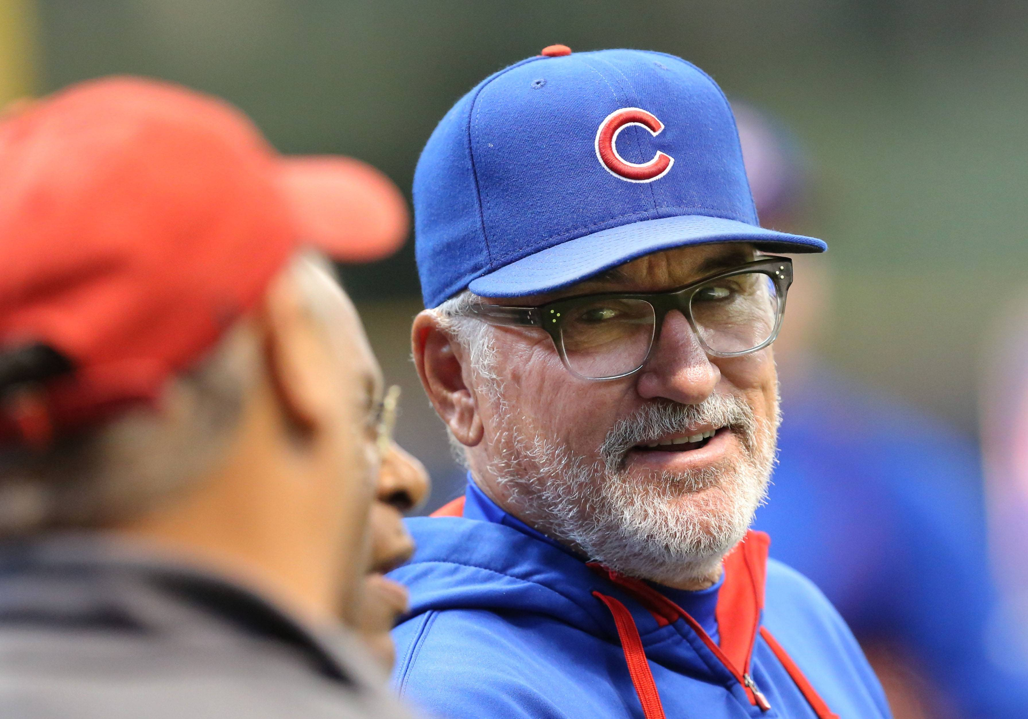 Steve Lundy/slundy@dailyherald.com/2016file Chicago Cubs manager Joe Maddon has helped the young Cubs develop a championship swagger. They don't have to be cute and cuddly anymore.