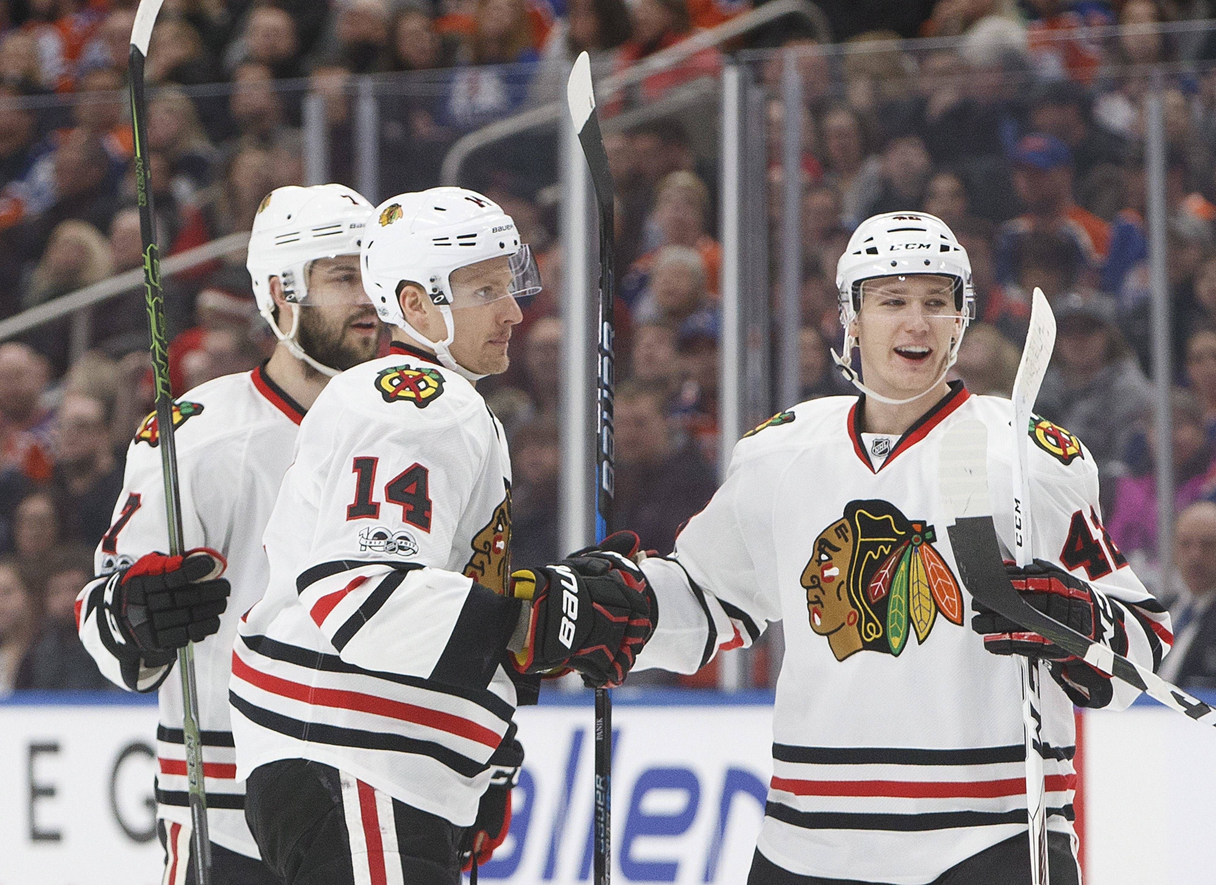 The Blackhawks want to come out of the bye week the same way they went into it. With a win over the Edmonton Oilers on Saturday night.