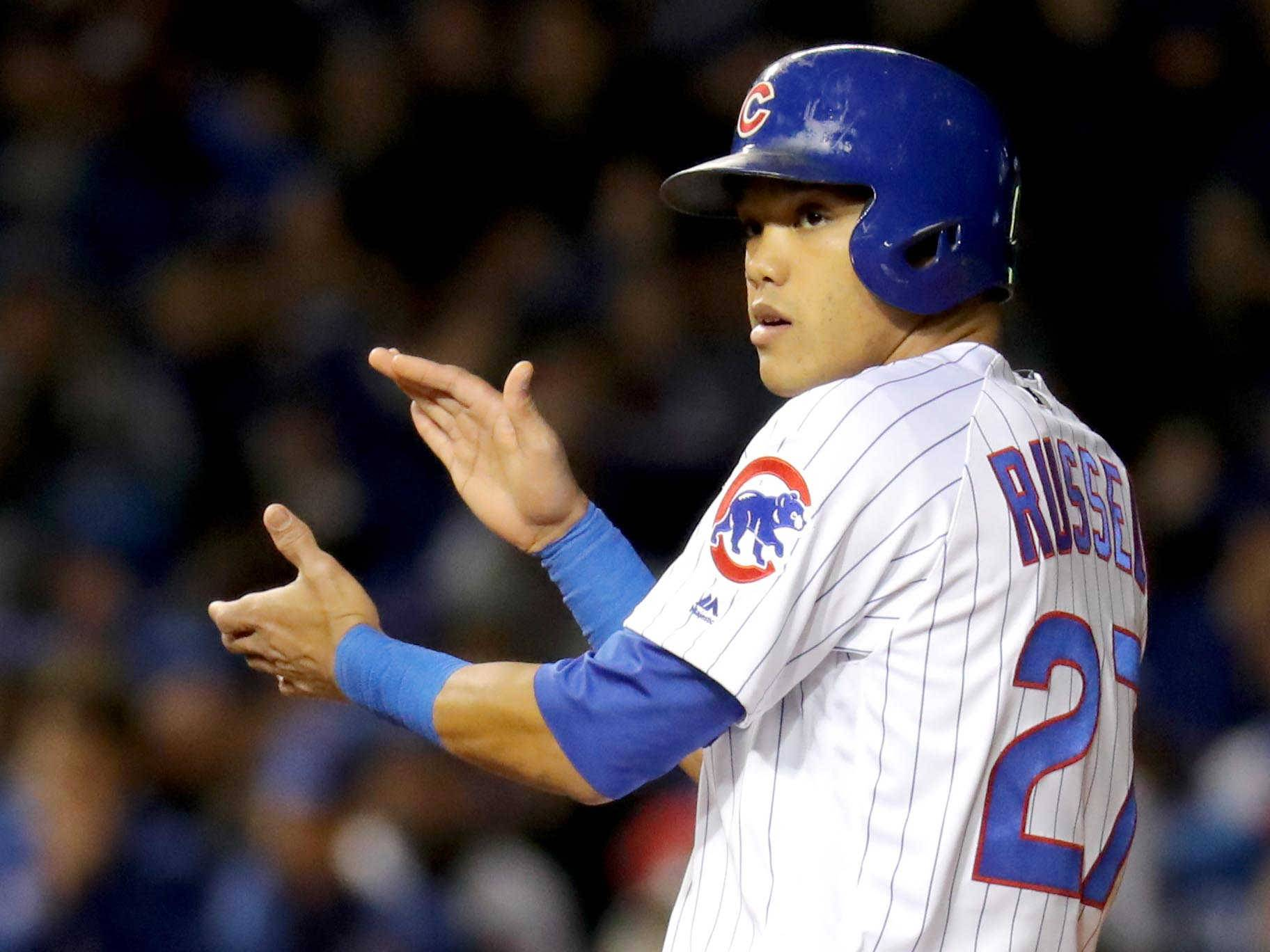 Chicago Cubs shortstop Addison Russell had 21 homers and 95 RBI last season.