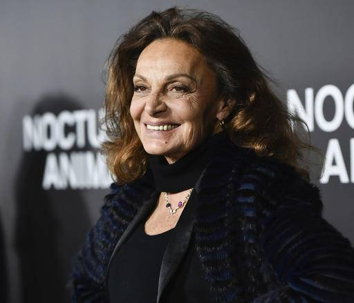 "FILE - In this Thursday, Nov. 17, 2016 file photo, Diane von Furstenberg attends the premiere of ""Nocturnal Animals"" at the Paris Theatre in New York. On Friday, Feb. 17, 2017, the day after Fashion Week shows concluded in New York, W magazine released a video featuring designers, models, photographers and industry activists and insiders who are, themselves, immigrants, including von Furstenberg. (Photo by Evan Agostini/Invision/AP)"