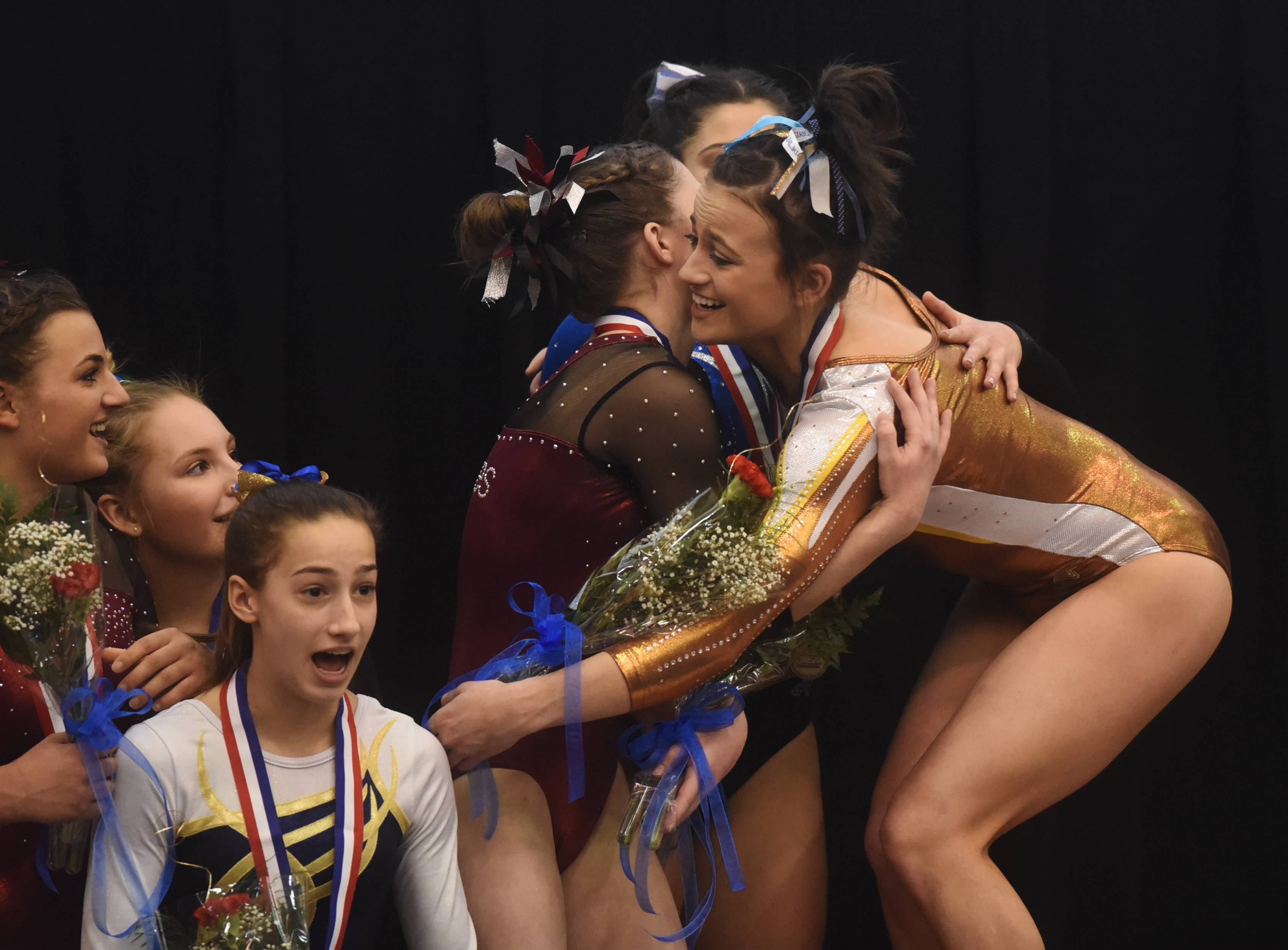 Images: Saturday at the Girls Gymnastics State Final Meet