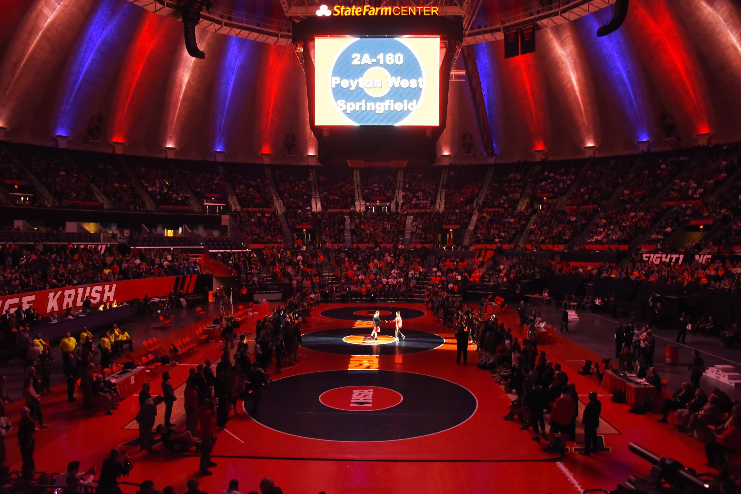 Images: Saturday at the State Final Meet in Individual Wrestling, Northwest Suburbs & Lake Co.