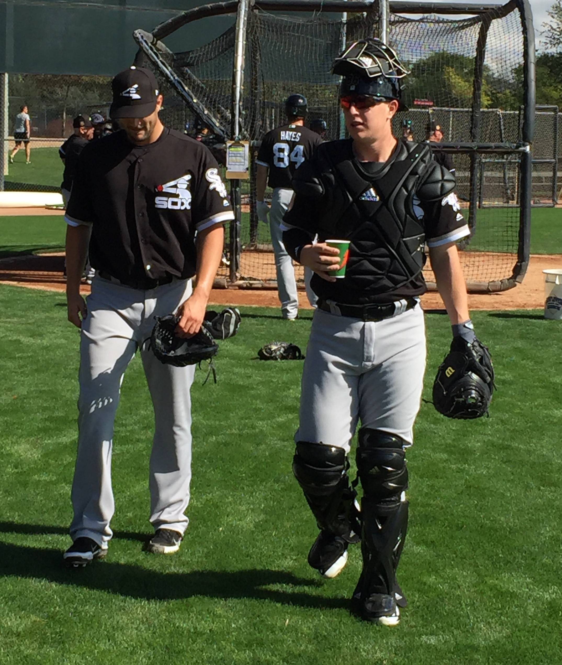 Scot Gregor/sgregor@dailyherald.com Chicago White Sox catcher Zack Collins continues to prove his doubters wrong when it comes to playing the position.