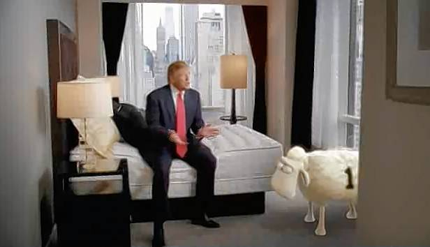This former real estate mogul and mattress salesman, seen here in a TV commercial before Hoffman Estates-based Serta cut ties with him, has a unique place in the lore of Presidents Day mattress sales.