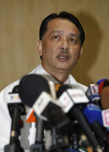 Noor Hisham Abdullah, director general of Health Malaysia, speaks during a press conference at Kuala Lumpur Hospital in Kuala Lumpur, Malaysia, Tuesday, Feb. 21, 2017. The doctor told reporters that the autopsy showed no evidence of a heart attack in Kim Jong Nam's death, or sign of puncture wounds on his body. (AP Photo/Daniel Chan)
