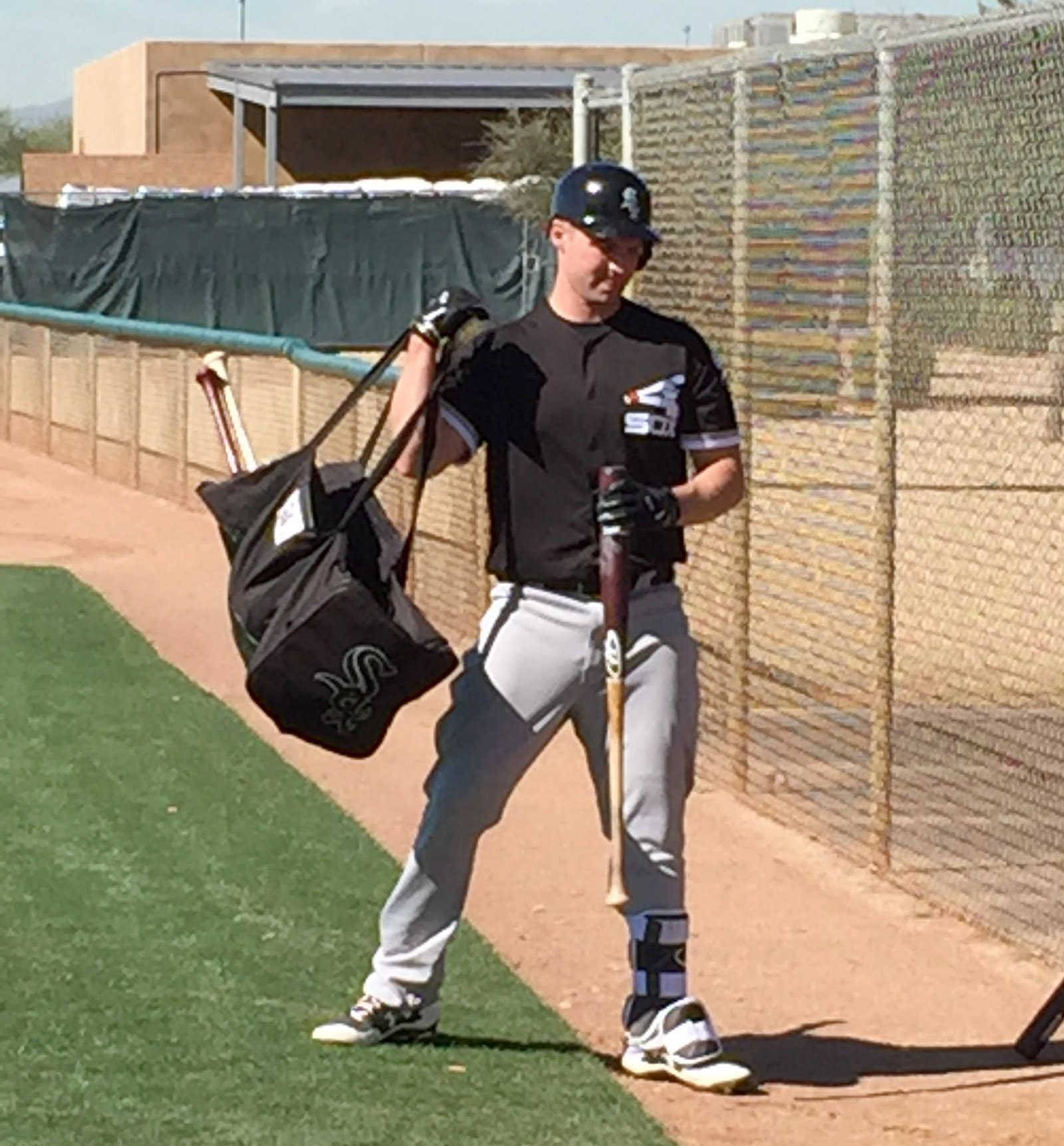 Third baseman Matt Davidson is happy he's still getting a chance to win a spot with the Chicago White Sox.