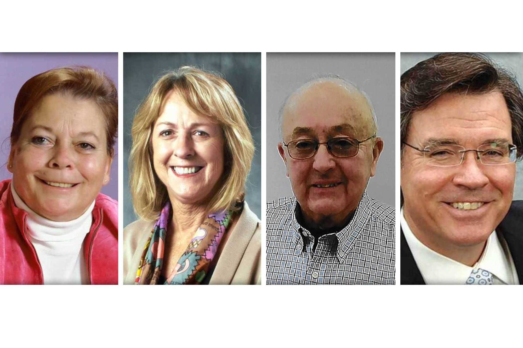 From left, Diane Evertsen, Linda Liddell, George Lowe and David Schenk are candidates for McHenry County College board.