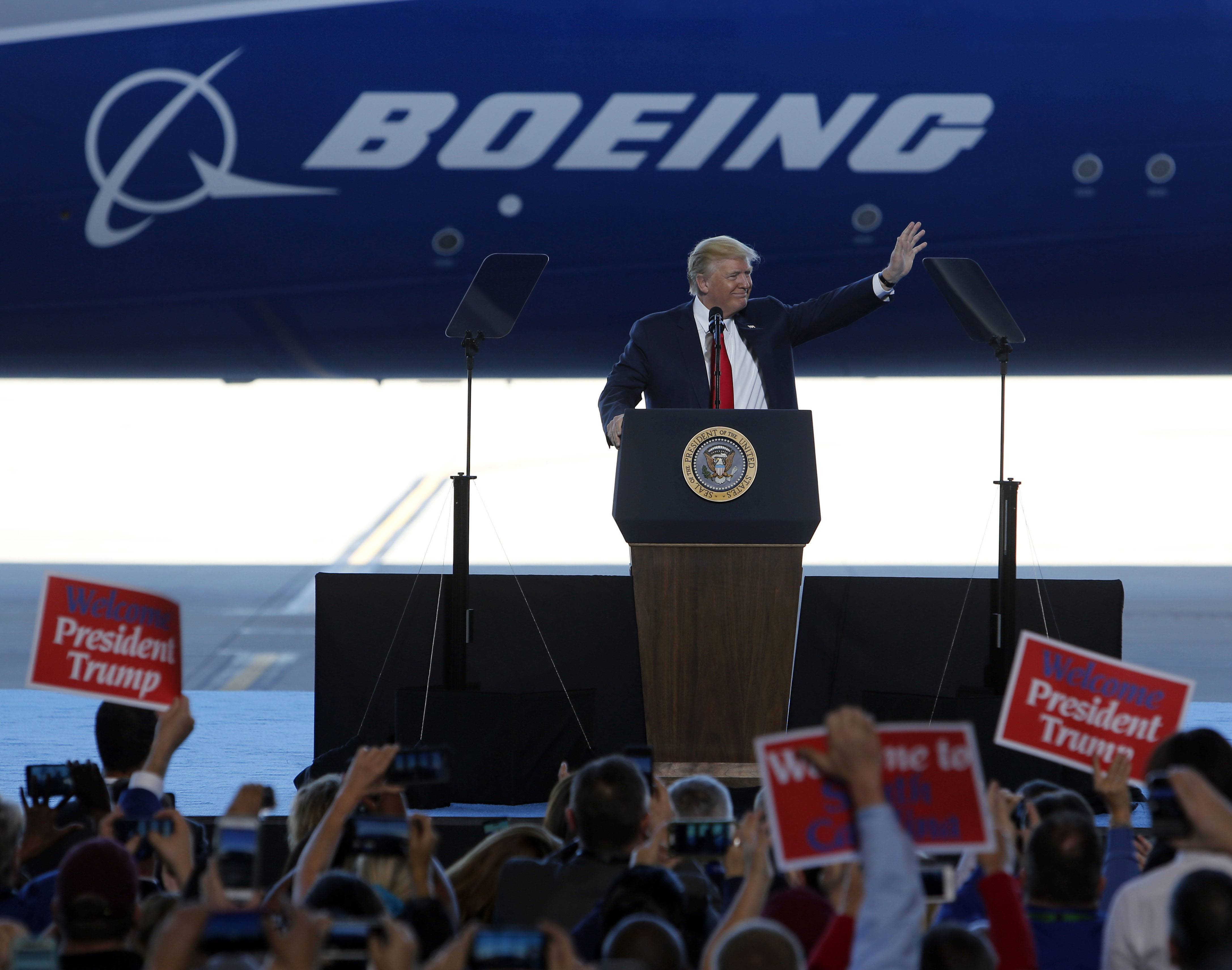During an address to Boeing workers last week in South Carolina, President Donald Trump hinted that a large order was ahead.