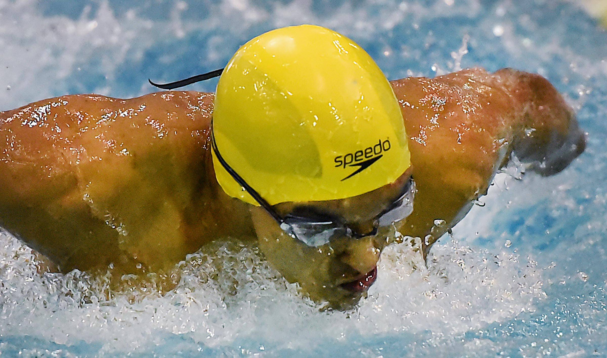 Neuqua Valley's Sathya Subramanian competes in the 100-Yard Butterfly.