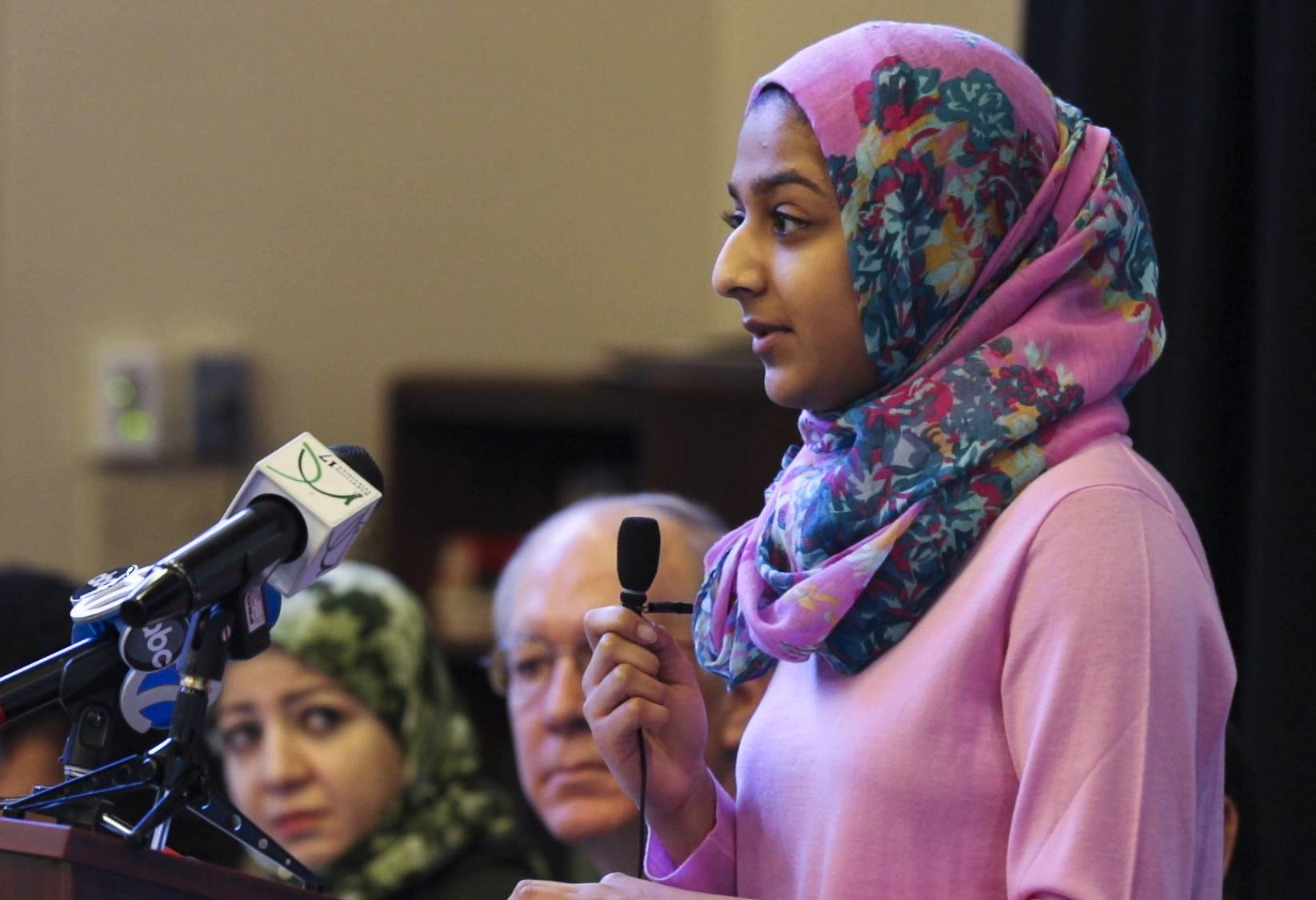 Samia Abdul-Qadir, a junior at Naperville North, recently talked about being harassed at school during a discussion hosted by congressman Bill Foster at the Islamic Center of Naperville.