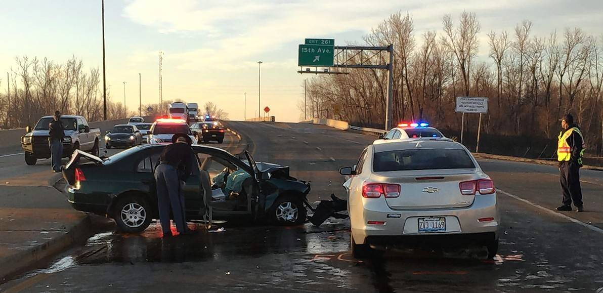 Samantha Salvador, a 20-year-old Hoffman Estates woman, died in this two-car crash on I-65 in Gary, Indiana, Thursday morning.
