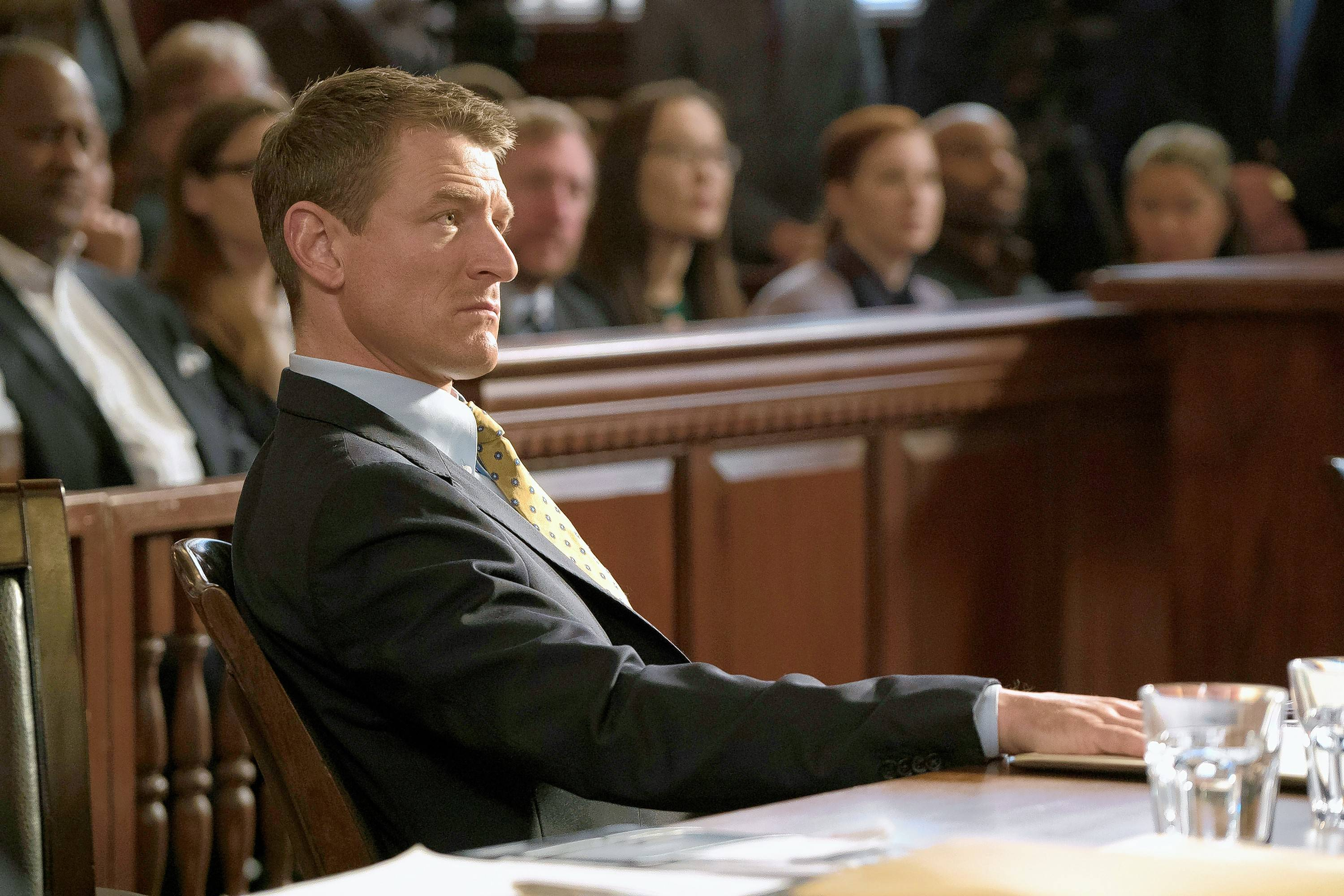 "Peter Stone (Philip Winchester) prosecutes cases in the new NBC drama ""Chicago Justice."""
