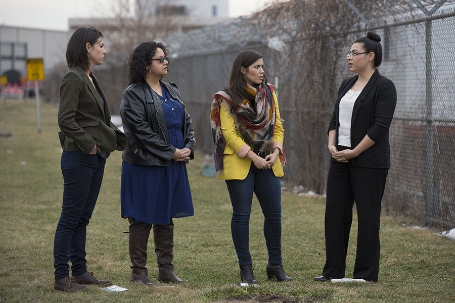 "Actress America Ferrera meets local activists fighting to close the Waukegan coal plant in ""Years of Living Dangerously: Uprising."" The film will be shown March 5 in Waukegan as part of the One Earth Film Festival."