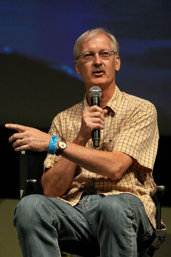 Director John Musker speaks at the Disney Animation Panel at Comicon in 2009 at the San Diego Convention Center in California.