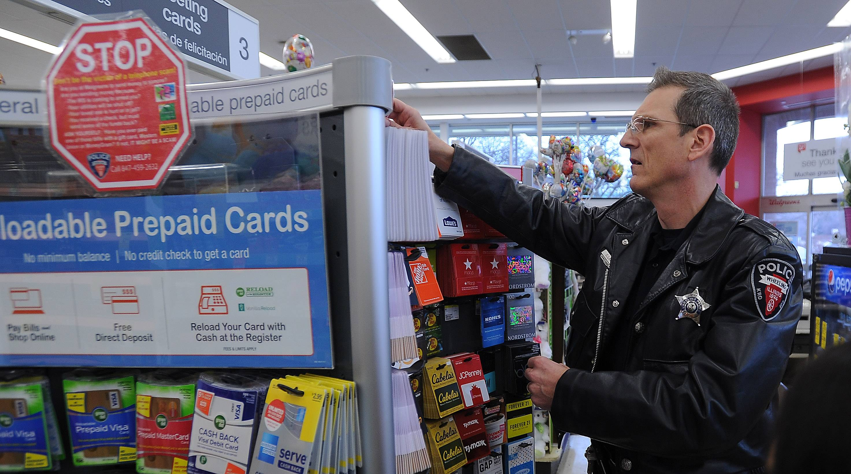 Wheeling Police Crime Prevention Officer Scott Laverd Is Posting Signs In  Stores Such As Walgreens,
