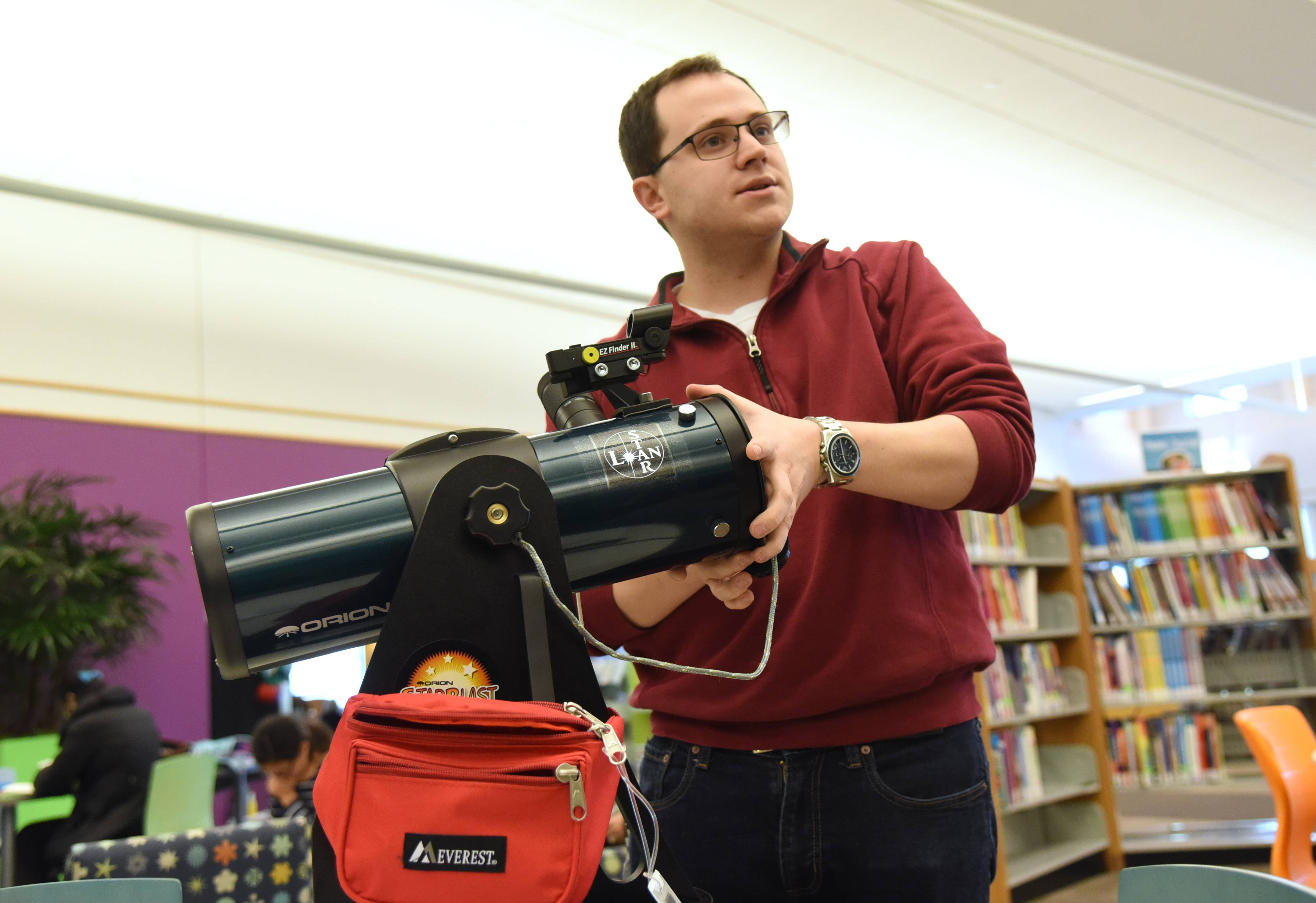 Vernon Area library offers telescopes to check out