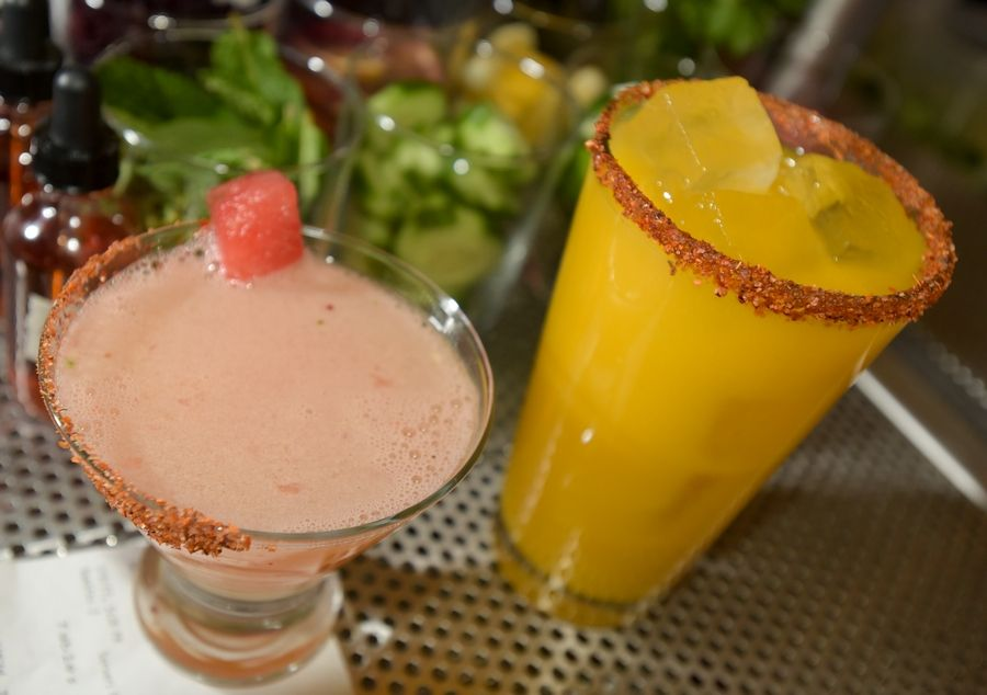 Sandra Ahomada and Mangoneada are two of the drinks on the menu at Quiubo Mexican restaurant in downtown Naperville, which is the first of five restaurants to open in the Water Street District, a $93 million hospitality, dining and retail district.