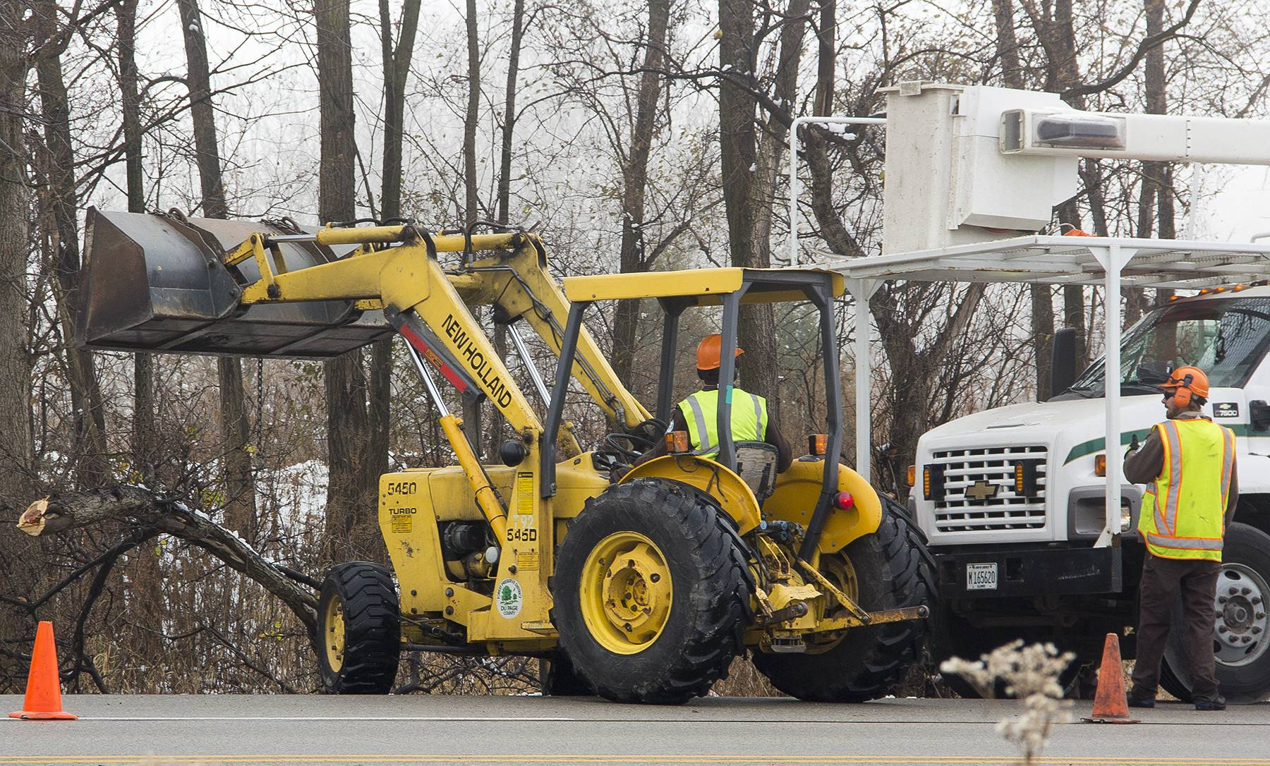 The Forest Preserve District of DuPage County and DuPage County's transportation division in December worked together on a tree removal project along Naperville Road. It's one of several examples of how the county and forest preserve have worked together to save money.