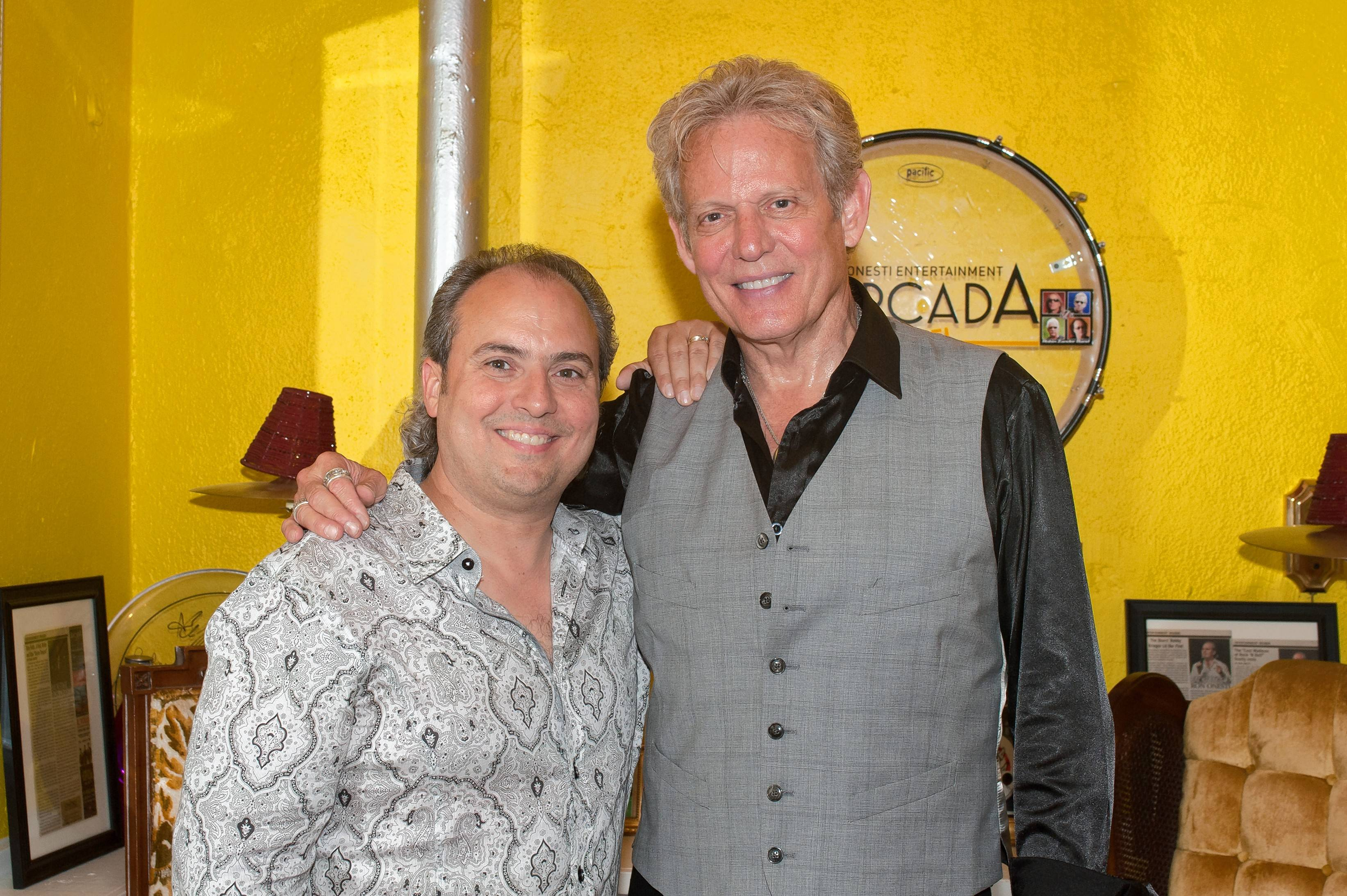 Courtesy of Onesti Entertainment Corp. Original Eagles' guitarist Don Felder, right recently performed at The Arcada and shared a story of how the band got together.