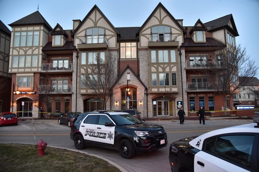 St. Charles police investigate a quadruple shooting Friday night on the 400 block of South First Street in St. Charles.