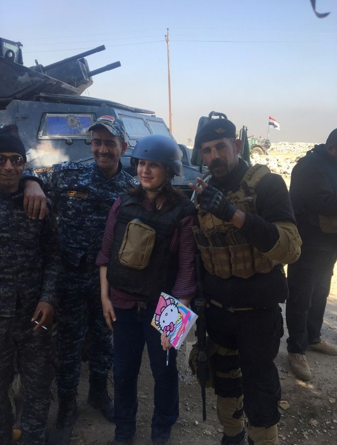 "Rukmini Callimachi, a correspondent for The New York Times, met with Iraq's Federal Police at the Mosul International Airport in the last week of February. ""The airport was an important target for the Iraqi forces and taking it marked a milestone in the push to liberate the city,"" Callimachi said in an email."