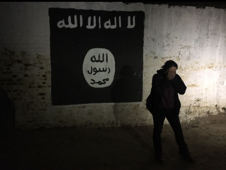 Rukmini Callimachi went inside an ISIS tunnel near Tidmur on the outskirts of Mosul in the first week of March.