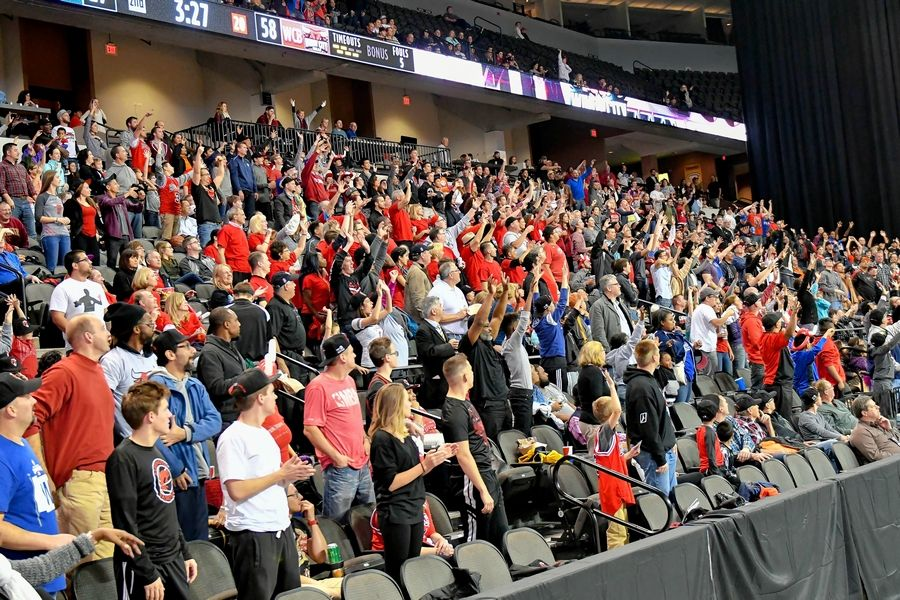 Fans at Sears Centre Arena in Hoffman Estates show their support for the Windy City Bulls.