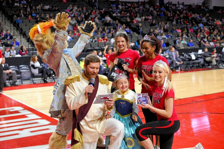 Princess Night is just one of many promotional events this season at a Windy City Bulls game.