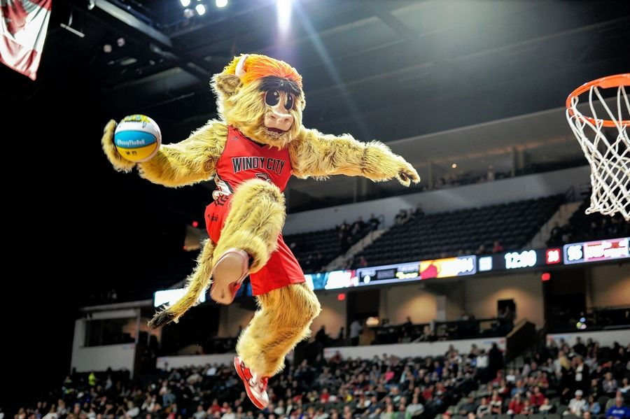 You can't have a pro team without a mascot, and the Windy City Bulls mascot loves to entertain the crowd.