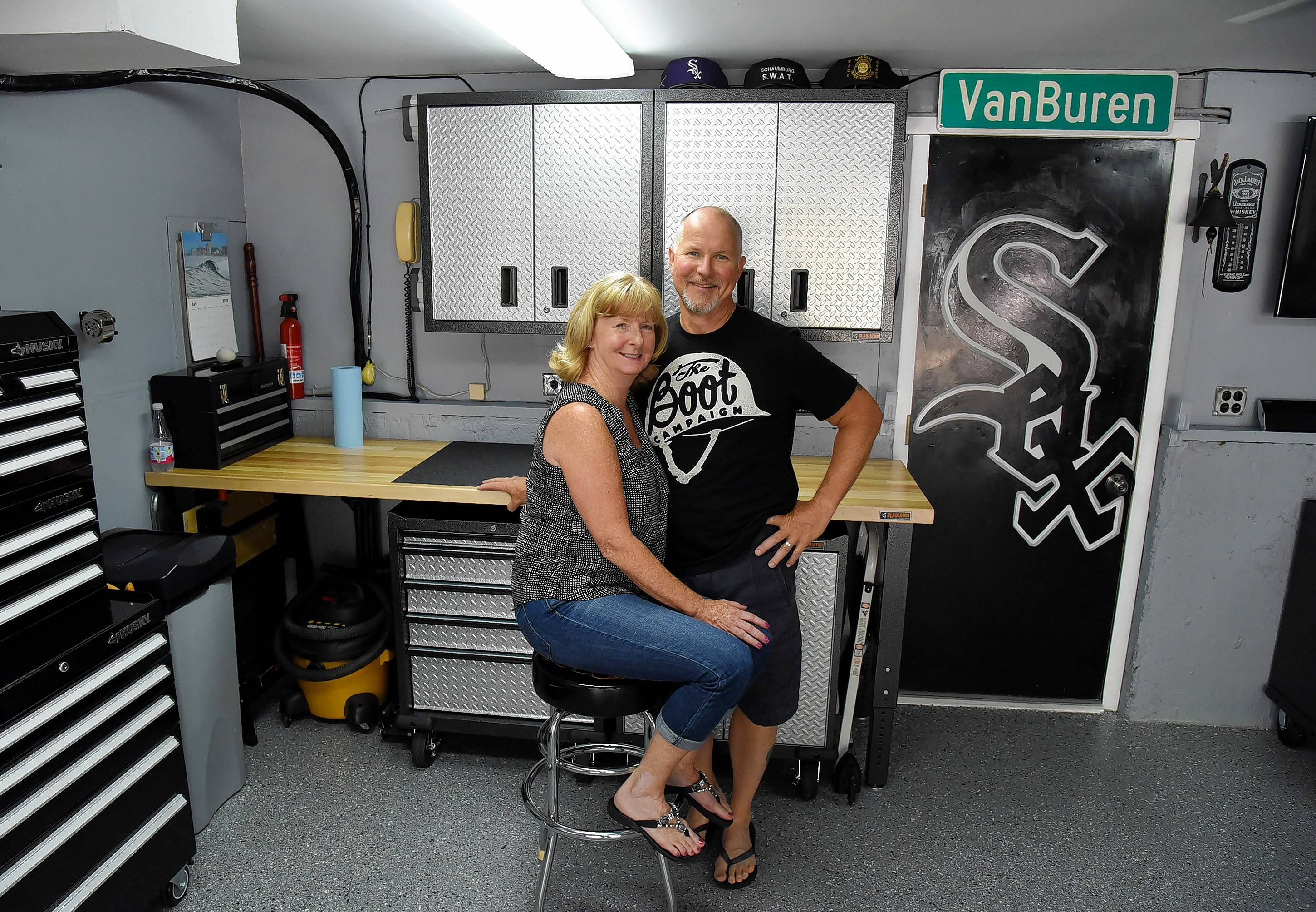 Rob and Liz Ruisz of Schaumburg won last year's garage makeover contest, sponsored by the Daily Herald and Garage Store. The floor received a concrete restoration and a commercial grade coating.